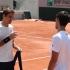 Roland Garros : Novak Djokovic prova il centrale e scherza con Federer