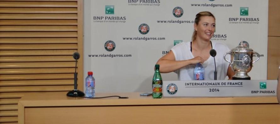 """ROLAND GARROS : Maria Sharapova """"Adesso la terra é la mia favorita"""""""