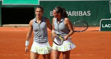 WTA FINALS SINGAPORE : Errani-Vinci fuori ritiro per infortunio dopo 3 giochi