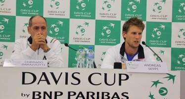 """COPPA DAVIS SVIZZERA ITALIA 3-2 : Corrado Barazzutti """" E' una bella squadra che ha ampiamente meritato la semifinale"""""""