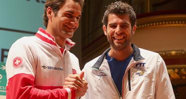 COPPA DAVIS SVIZZERA-ITALIA : Ore 13 Federer Bolelli