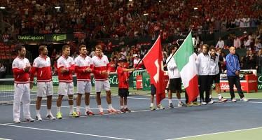 COPPA DAVIS SVIZZERA-ITALIA 2-0 : Federer non gioca il doppio