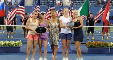 US OPEN : Pennetta Hingis si fermano in finale. titoloa Vesnina-Makarova