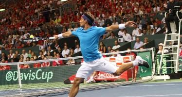 COPPA DAVIS SVIZZERA-ITALIA 3-1 : Fognini a testa alta contro Federer