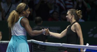 WTA FINALS SINGAPORE : Trionfa per la quinta volta Serena 63 60  a Simona Halep.