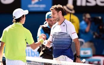 OPEN D'AUSTRALIA : Stan Wawrinka  in semifinale, tre set a Nishikori