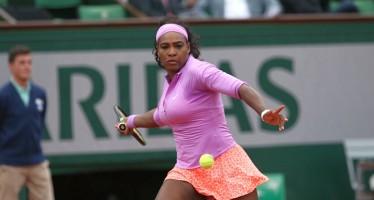 ROLAND GARROS: tutto facile per Serena Williams. Paura per la Kvitova, fuori Jankovic e Bouchard