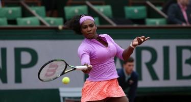 ROLAND GARROS: Serena Williams avanti con brivido. Kvitova soffre ancora, fuori la Wozniacki