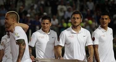 INTERNAZIONALI BNL d'ITALIA : Francesco Totti rovesci per beneficenza