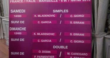 FED CUP : Aprono Giorgi – Mladenovic