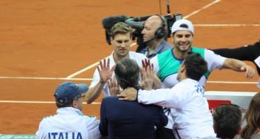 ITALIA-SVIZZERA 3-0 : Seppi e Bolelli portano il punto decisivo