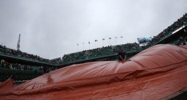 Roland Garros : Incontri sospesi per pioggia