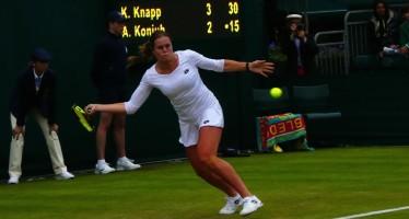 WIMBLEDON :  Karin Knapp saluta Wimbledon