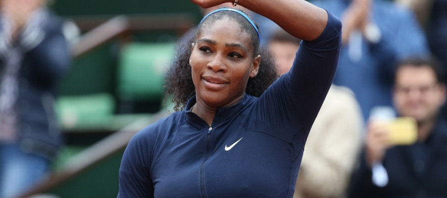 Fiori d'arancio per Serena Williams.