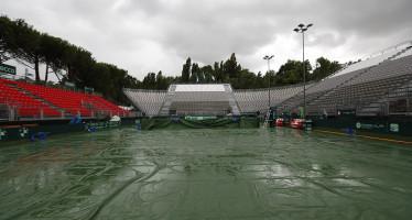 COPPA DAVIS : La pioggia ritarda le partite.
