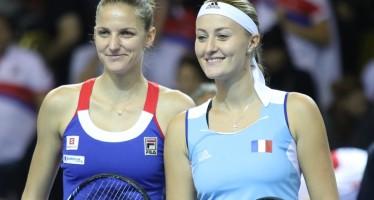 FED CUP 2016 : Alle 14 Kristina Mladenovic  affronta Karolina Pliskova