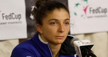 """FedCup Italia Slovacchia 1-2 : Sara Errani """"""""Ho dato tutto quello che avevo"""""""