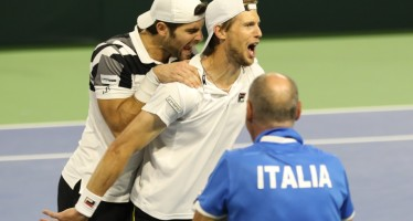COPPA DAVIS BELGIO-ITALIA 2-1 : Il doppio all'Italia che salva un match-point