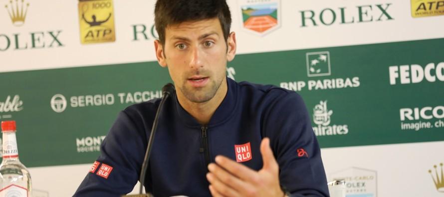 MONTE-CARLO ROLEX MASTERS : Novak Djokovic Partita strana come contro SImon