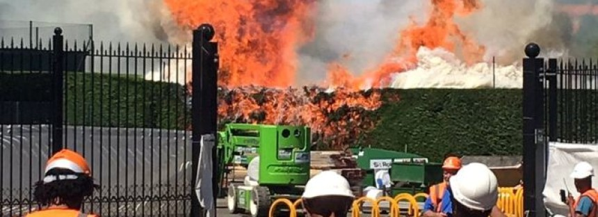 Incendio nel complesso di Wimbledon