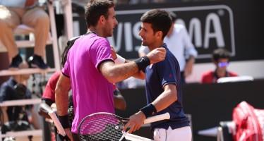 IBI 2017 : Novak Djokovic ottava semifinale a Roma, inconsistente Del Potro
