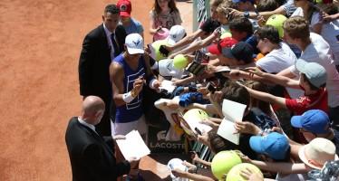 ROLAND GARROS :  Giornata dei ragazzi, Nadal assediato dai fans