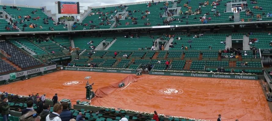ROLAND GARROS : Rain delay
