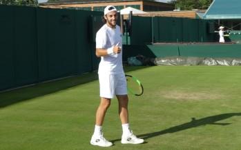 WIMBLEDON : Stefano Travaglia, la prima in uno Slam