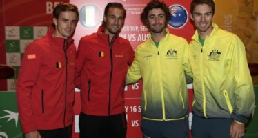 COPPA DAVIS : Belgio-Australia 1-2, doppio ai canguri