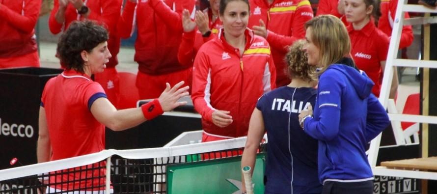 FedCup : Italia-Spagna 0-1, troppo forte Suarez-Navarro, iberici in vantaggio