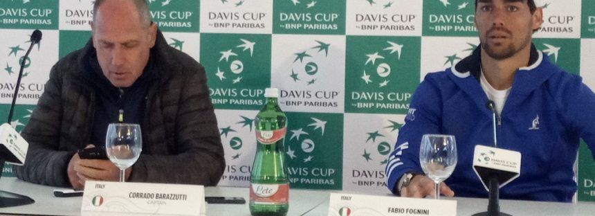 """DAVIS ITALIA-FRANCIA 1-1 : Fabio Fognini """"Pronto per il doppio"""""""
