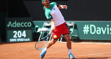 DAVIS ITALIA-FRANCIA 1-2 : Fognini spreca tre set point,Pouille avanti due set a uno