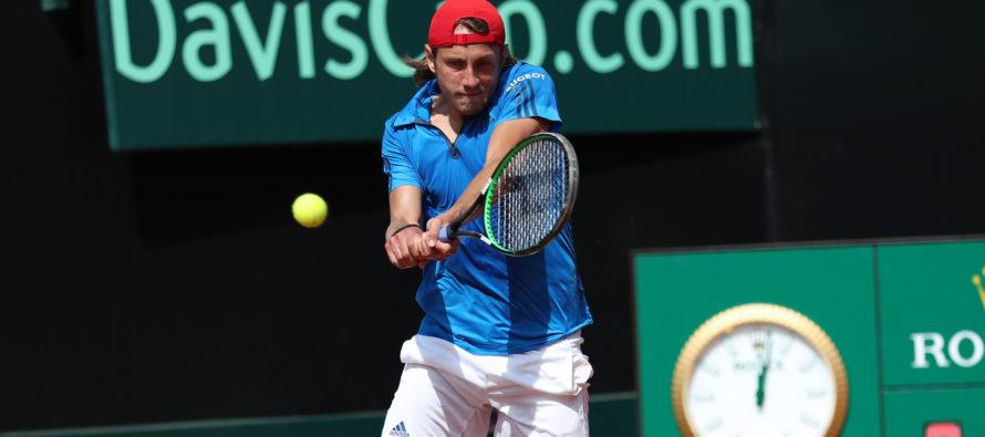 DAVIS ITALIA-FRANCIA 1-2 : Fognini Pouille un set pari