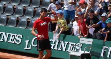 Roland Garros : Djokovic in allenamento