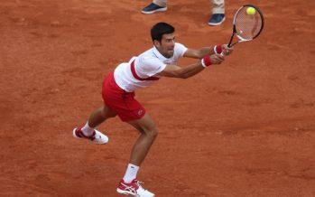 "Roland Garros :  Novak Djokovic ""Non sono al mio livello"""