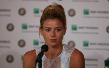 """Roland Garros :  Camila Giorgi """"Oggi ho dato il massimo"""""""