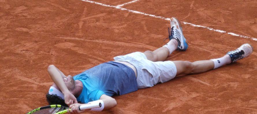 Roland Garros : Marco Cecchinato in semifinale, annullato Djokovic