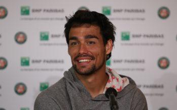 """Roland Garros : Fabio Fognini """"Al 5° tutto puo' succedere"""""""