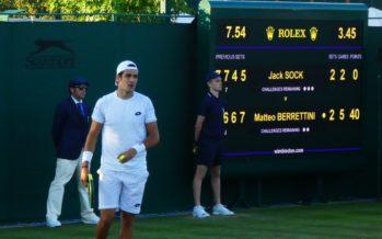 """Wimbledon: Matteo Berrettini """"Più stavo in campo più stavo meglio"""""""