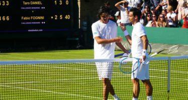 Wimbledon: Fabio Fognini domina Taro Daniel