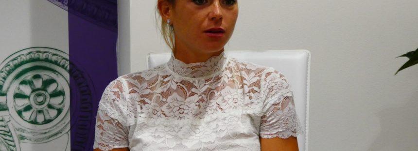 """Wimbledon:  Camila Giorgi """"E' normale perdere il servizio siamo donne"""""""