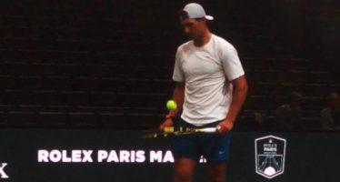 Rolex Paris Masters ; Nadal si allena con Cecchinato