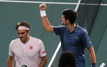 Rolex Paris Masters : Djokovic vince lo scontro tra titani,  Federer cede al tie-break del 3°