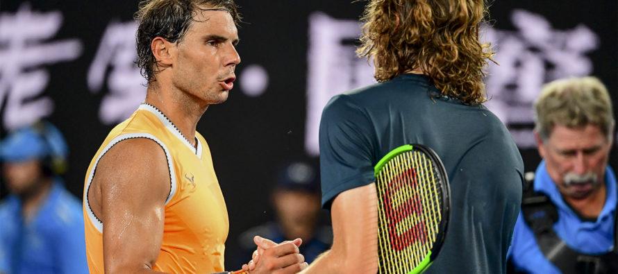 AUSTRALIAN OPEN : Nadal spazza via Tsitsipas, 5° finale a Melbourne