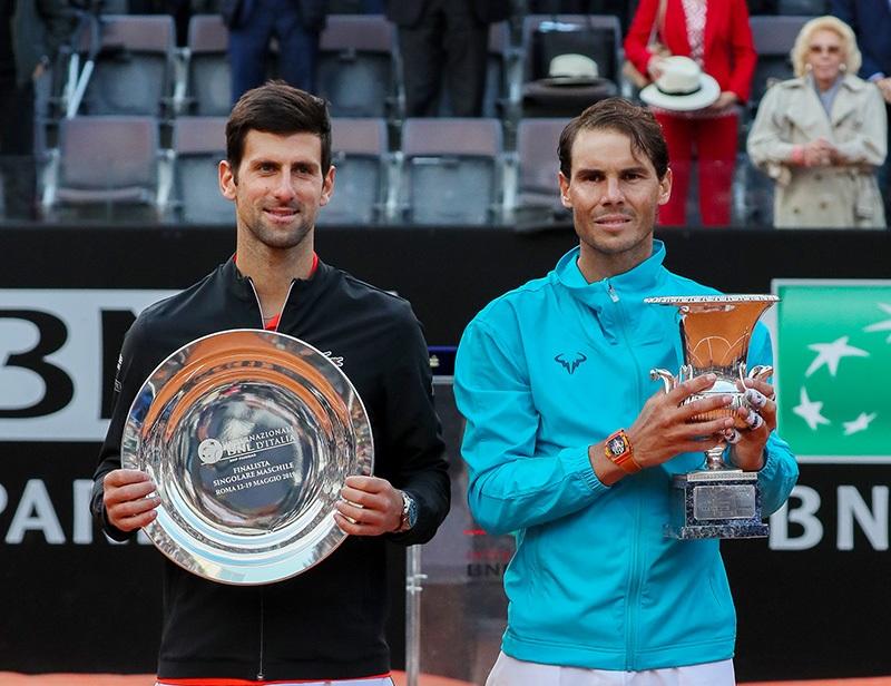Novak Djokovic e Rafael Nadal (Foto Giampiero Sposito)